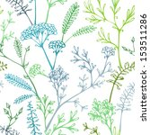 various grass and floral... | Shutterstock .eps vector #153511286