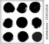 grunge shapes  | Shutterstock .eps vector #153513518