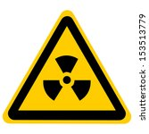 Yellow Nuclear Sign Isolated On ...