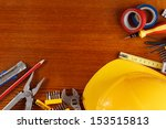 tools for building on the table | Shutterstock . vector #153515813