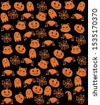 halloween style design for... | Shutterstock . vector #1535170370