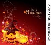 halloween background   eps 10 | Shutterstock .eps vector #153523640