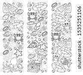 vector illustration underwater. ... | Shutterstock .eps vector #1535251106