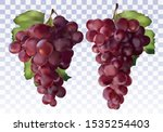 Icon Set Red Grapes. Fresh Red...
