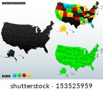 united states of america map ... | Shutterstock .eps vector #153525959