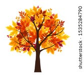 vector abstract autumn tree... | Shutterstock .eps vector #1535284790