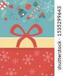 gift box with bow decoration... | Shutterstock .eps vector #1535299643