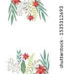 beauty christmas flowers and... | Shutterstock .eps vector #1535312693