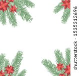 beauty christmas flowers and... | Shutterstock .eps vector #1535312696