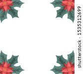 beauty christmas flowers and... | Shutterstock .eps vector #1535312699
