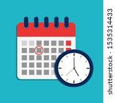 calendar schedule and clock...   Shutterstock .eps vector #1535314433