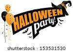 halloween party design element. ... | Shutterstock .eps vector #153531530