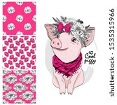 set of vector seamless patterns ... | Shutterstock .eps vector #1535315966