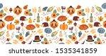 thanksgiving seamless vector... | Shutterstock .eps vector #1535341859