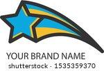 falling star logo vector design | Shutterstock .eps vector #1535359370