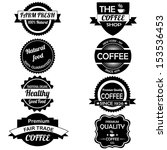 different labels on white... | Shutterstock .eps vector #153536453