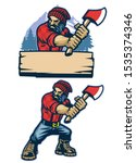 cartoon style mascot of... | Shutterstock .eps vector #1535374346
