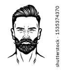 hand drawn man head with beard... | Shutterstock .eps vector #1535374370
