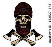 skull of lumberjack with... | Shutterstock .eps vector #1535374373
