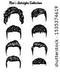 handdrawn men's hairstyles... | Shutterstock .eps vector #1535374619