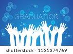 congratulations graduation... | Shutterstock .eps vector #1535374769