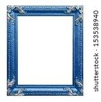 Blue Frame On The White...