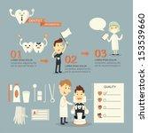 dentist infographics set | Shutterstock .eps vector #153539660