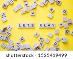 Scrabble Letters On Yellow...