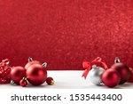 Christmas Ornaments Red Balls...