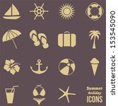 summer icons .vector | Shutterstock .eps vector #153545090