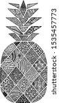 pineapple doodle art  ... | Shutterstock .eps vector #1535457773