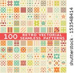 100 retro different vector... | Shutterstock .eps vector #153548414