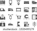 out of home media line icon set.... | Shutterstock .eps vector #1535499179