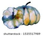 Blue Pumpkins Composition. Han...