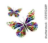 colorful butterflies  from... | Shutterstock .eps vector #153552689