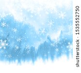 christmas snowflakes on a... | Shutterstock . vector #1535552750