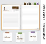 2014 calendar on notebook paper ... | Shutterstock .eps vector #153555530