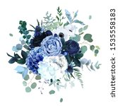 royal blue  navy garden rose ...