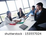 group of happy young  business...   Shutterstock . vector #153557024