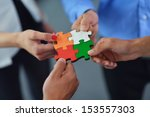 group of business people... | Shutterstock . vector #153557303