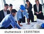 business people group on... | Shutterstock . vector #153557804