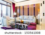 the living room with modern... | Shutterstock . vector #153561008