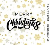 merry christmas greeting card... | Shutterstock .eps vector #1535627753