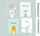 set of cute pastel cards for...   Shutterstock .eps vector #1535696963