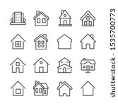 set of outline home line icons... | Shutterstock .eps vector #1535700773