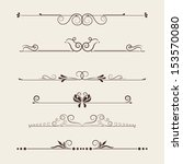 vector set  calligraphic design ... | Shutterstock .eps vector #153570080