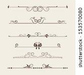 vector set  calligraphic design ... | Shutterstock .eps vector #153570080