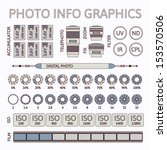 photo infographics set  vector... | Shutterstock .eps vector #153570506
