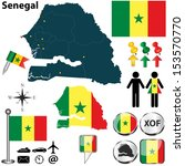 vector of senegal set with... | Shutterstock .eps vector #153570770