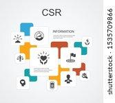 csr infographic 10 line icons...